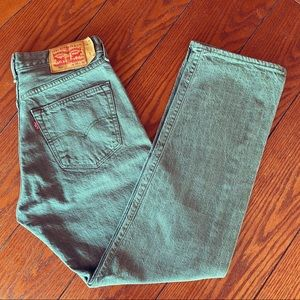 Levi's Mens 501Jeans Straight Button Fly White Oak
